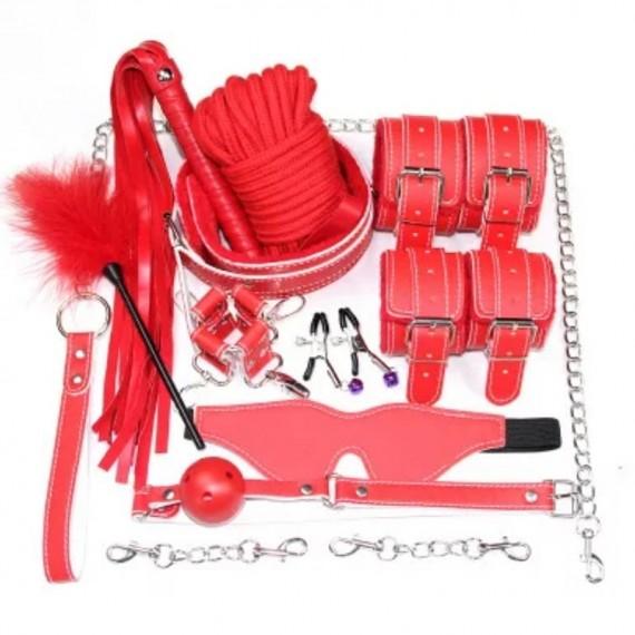Set BDSM, kit bondage, red...