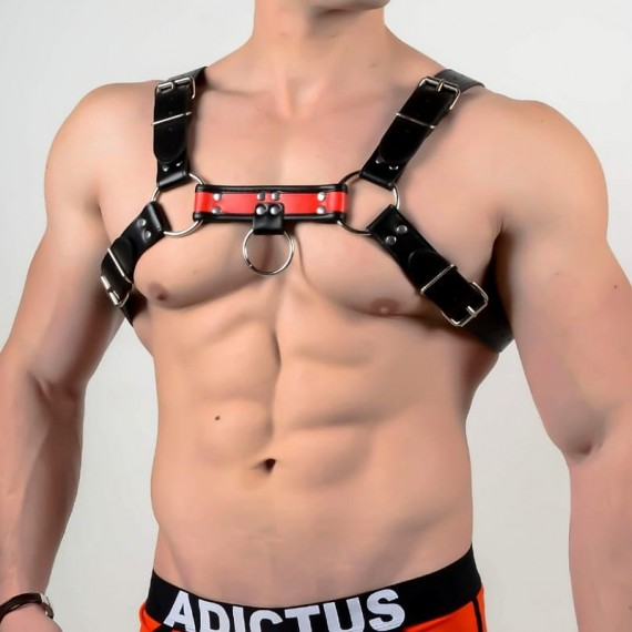 Man harness a002 red black